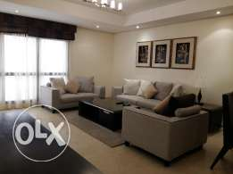 spacious 3 bedroom fully furnished in Sanabis!