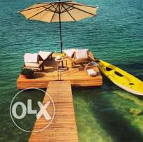 custom made wooden deck for your property by the sea