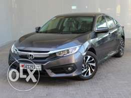 Honda Civic EXi 2.0L 4DR With Sunroof 2016 Grey For Sale
